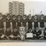 名古屋瑞穂ラグビー場 地区対抗優勝の記念写真 さて私はどれでしょう?(笑)