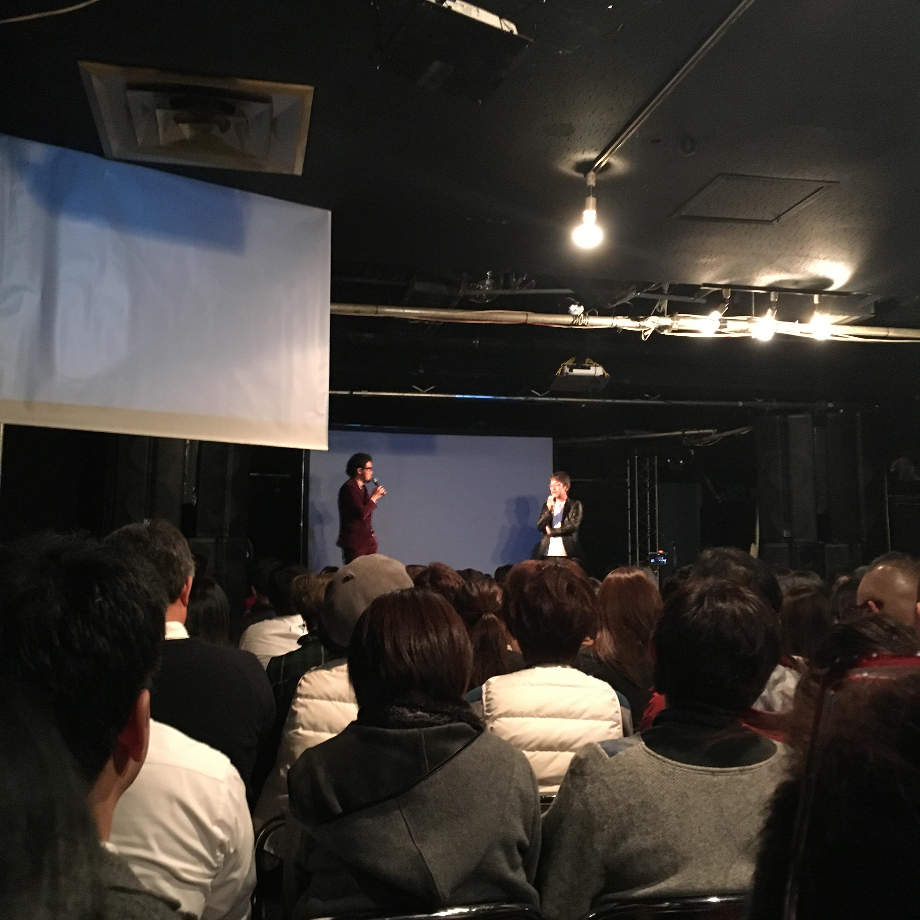 藤村先生と短パン社長のトーク。笑いが絶えない。その中にも短パン社長の藤村先生へのリスペクトがしっかり伝わって、何か心地よい空間でした。