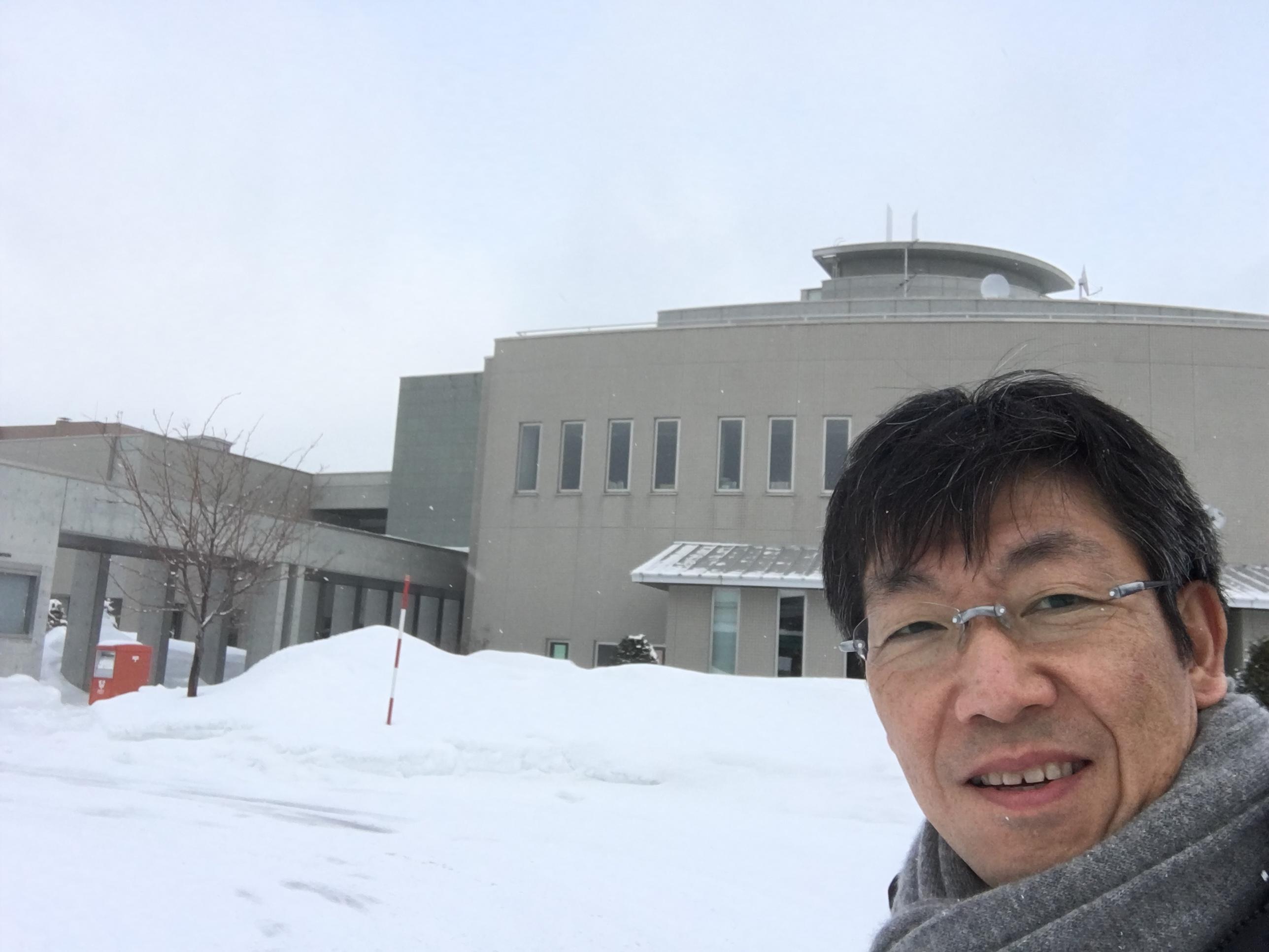 研修会の会場となったオホーツク文化交流センターは、網走川の辺。