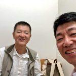 吉田つとむ先生と初インカメ。ヨガには厳しいですが、こういったことにはフランクに対応してくださいます。