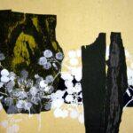 『こばん草のある風景』北海道を代表する版画家 金子誠治の道展出品作。ラベル用にスキャンしたもの